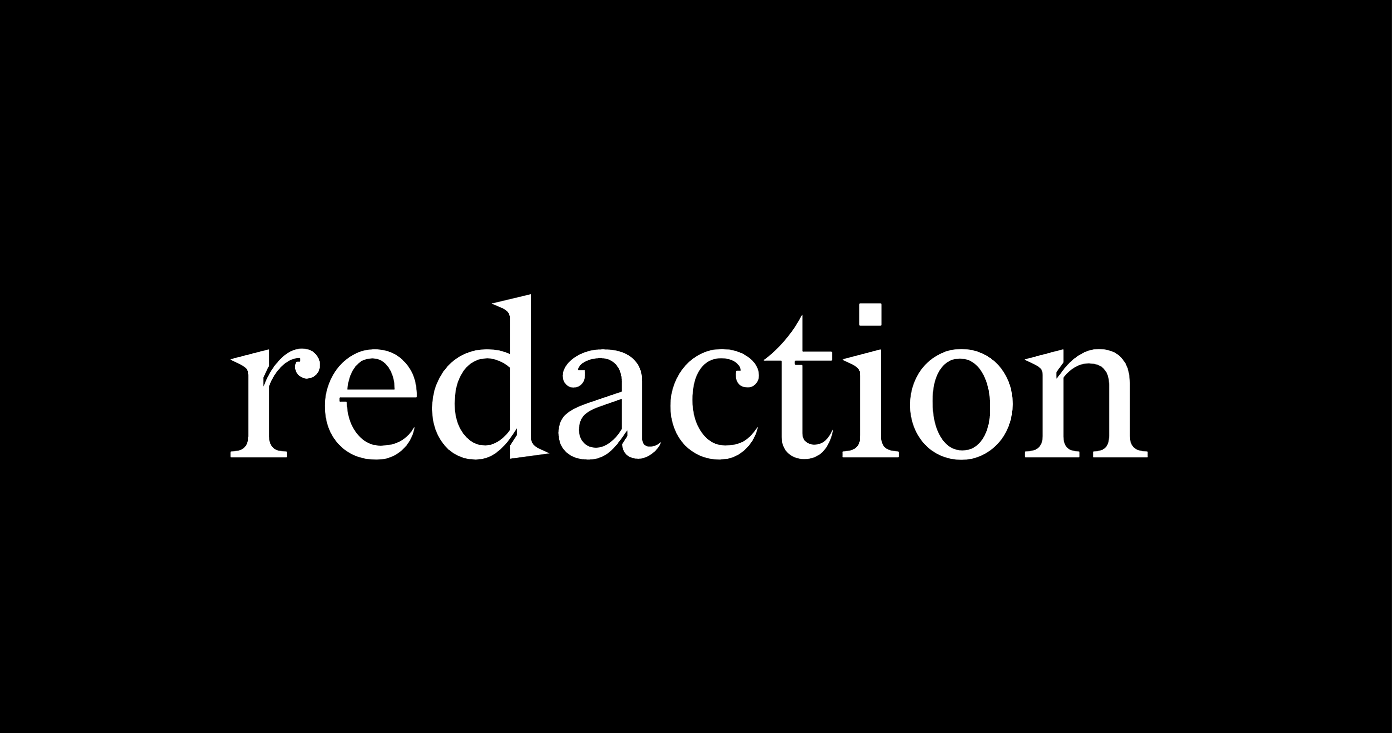 Redaction | Typeface from Titus Kaphar / Reginald Dwayne